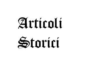 Articoli Storici